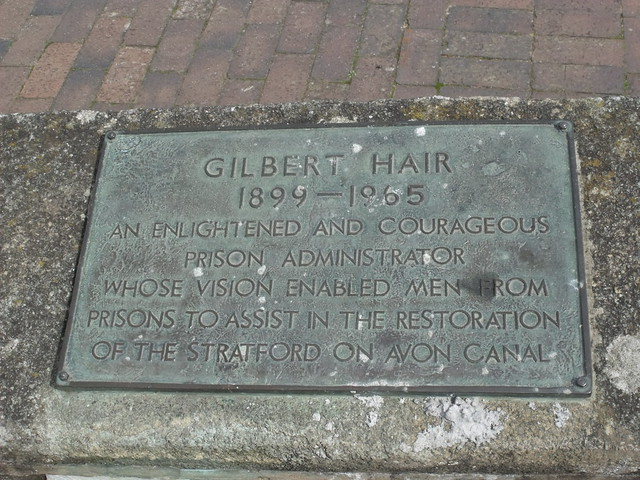 Photo of Gilbert Hair and Stratford on Avon Canal bronze plaque