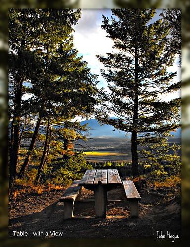 canada table scenery bc view east radium kootenay