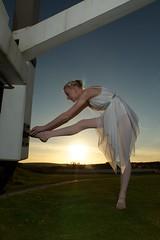 Stretching at Sunset