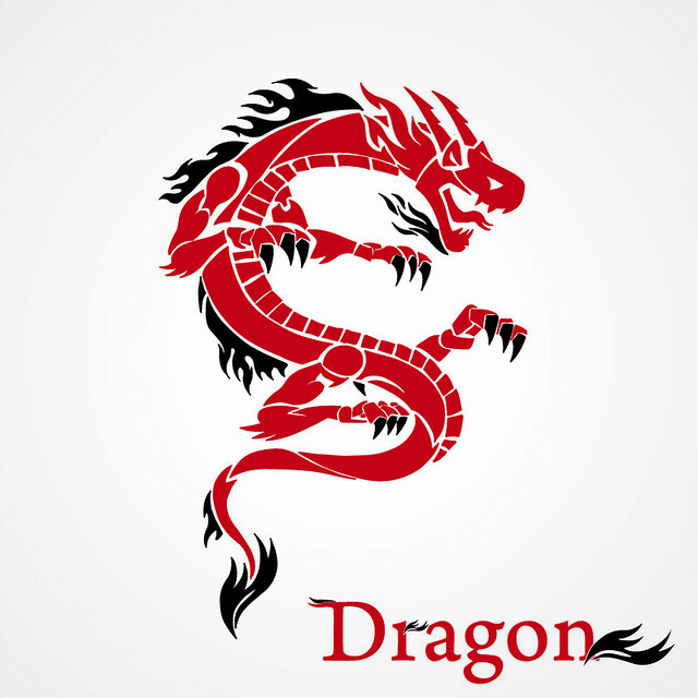 Graphic design, dragon, tattoo, creative design