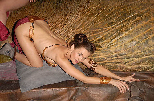 Slave Leia photo shoot 01
