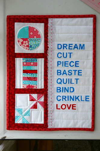 Quilting Process Mini Quilt