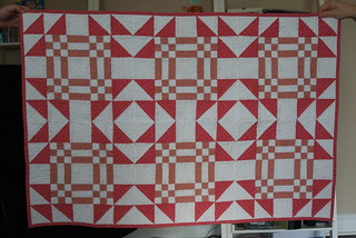 Much better in straight sunlight. Even better? After today I can smile and say that yes, I know where the companion quilt to this one is going.  Blog entry: domesticat.net/quilts/lucy-goosey  The companion quilt will be called 'Linus.'