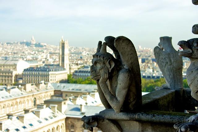 Bored grotesque in Notre Dame