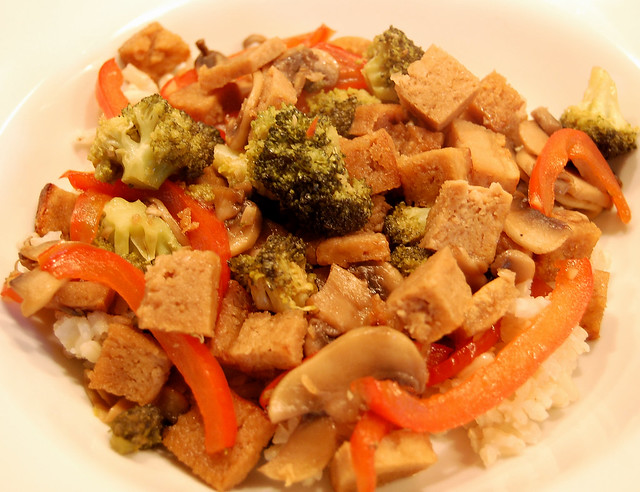 ... Mushrooms, & Peppers with Caramelized Tofu | Flickr - Photo Sharing