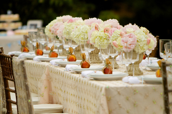 Peach Place Setting-Garden Dinner Party-Dan-Cutrona-Photography-Inspired By This-Camille Styles Events-Garden Dinner Party-Dan-Cutrona-Photography-Inspired By This-Camille Styles Events