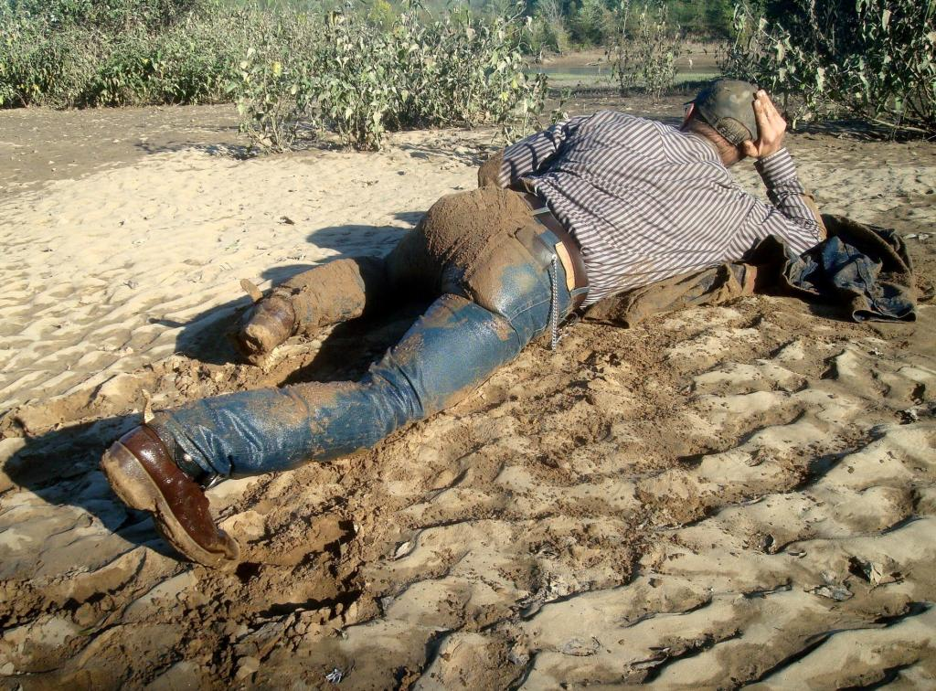 Men in Muddy Jeans
