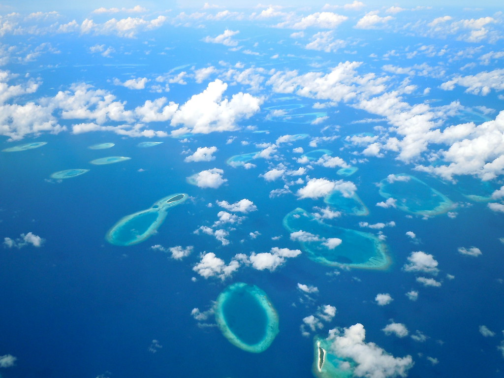 Flying Over Maldives