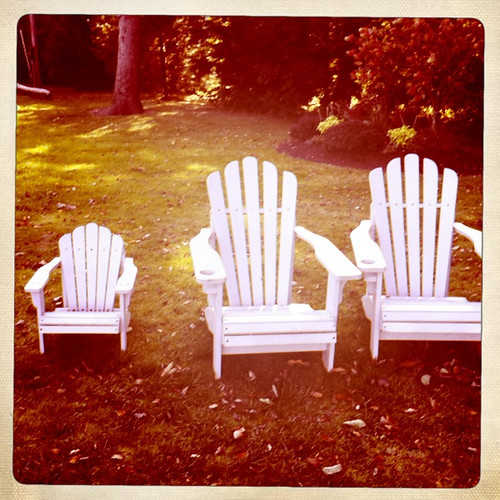 Goldilocks' Adirondack chairs