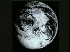 Earth taken by Galileo after completing its first Earth Gravity Assist