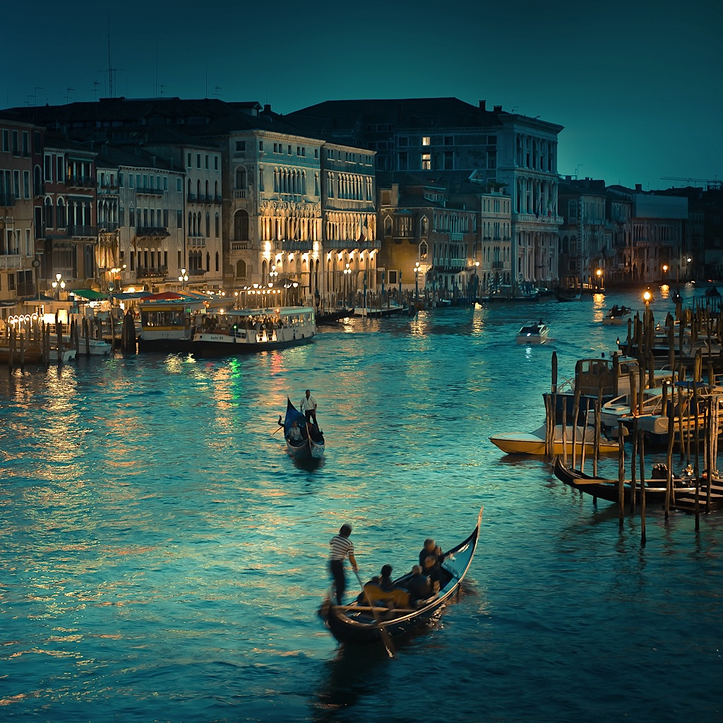 Venice at Night by Andrew at Cuba Gallery