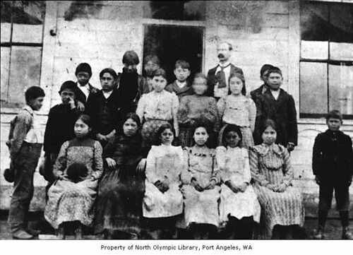 School children in Neah Bay