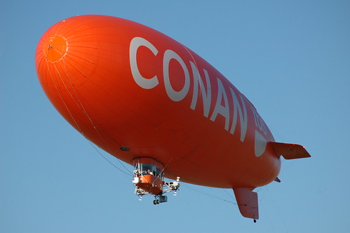Conan on TBS blimp