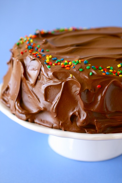 yellow butter cake with chocolate frosting 1 | Flickr - Photo Sharing!