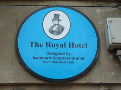 Photo of Isambard Kingdom Brunel blue plaque