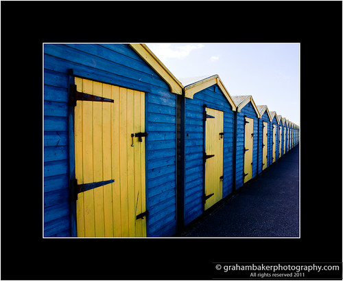 Blue Yellow - Wide Huts
