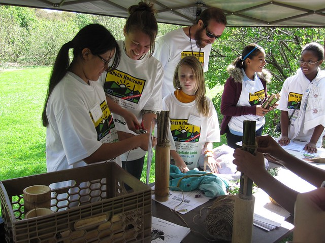 Green Horizon students work with the Great Pollinatior Project to learn about the important roll bees and butterflies play in our ecosystem
