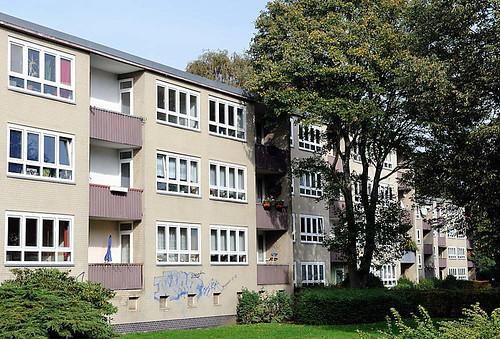 9314 Wohnblock in Hamburg Tonndorf - Mehrstöckiges Wohngebäude.