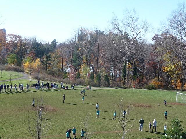 Cambridge Highlands - Girls' soccer game near Fresh Pond, Cambridge, MA