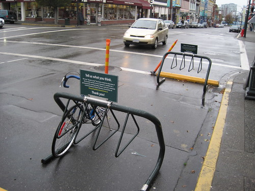 Bike parking in Victoria