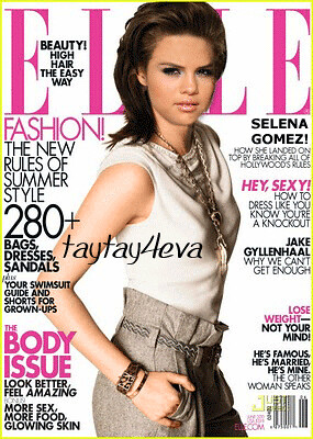Selena Gomez Fake Pics on Selena Gomez  Elle  Fake