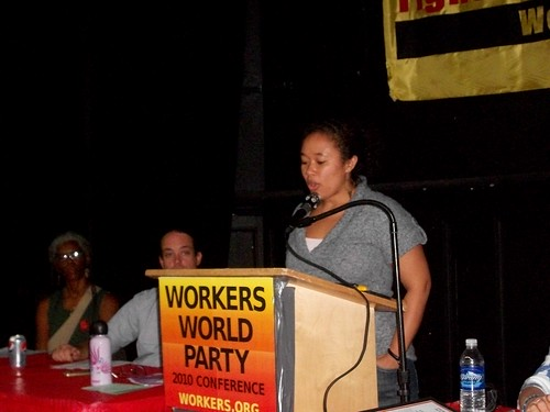 LeiLani Dowell, managing editor of Workers World newspaper published in New York City, addressing the national conference on November 14, 2010.  Dowell was a founding member of FIST. (Photo: Abayomi Azikiwe) by Pan-African News Wire File Photos