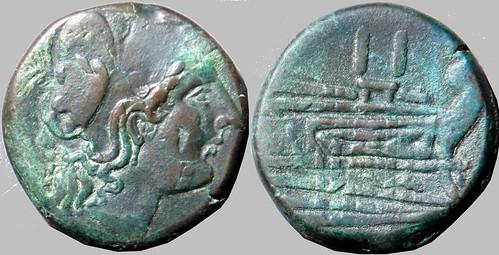RRC 056/1 Minerva Prow Dupondius c 39g32 Paris d'Ailly 1070