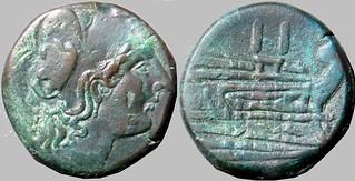 56/1 Minerva Prow Dupondius c 39g32 Paris d'Ailly 1070