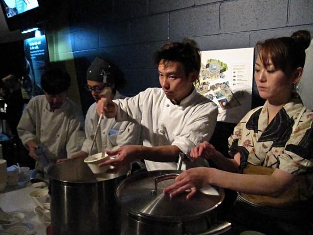 The Hapa Izakaya team serving their chowder