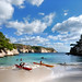 Sea kayaking on Menorca island
