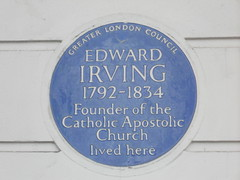 Photo of Edward Irving blue plaque
