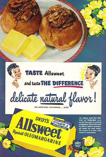 Vintage Ad #1,254: Delicate Natural Flavour from Oleomargarine!