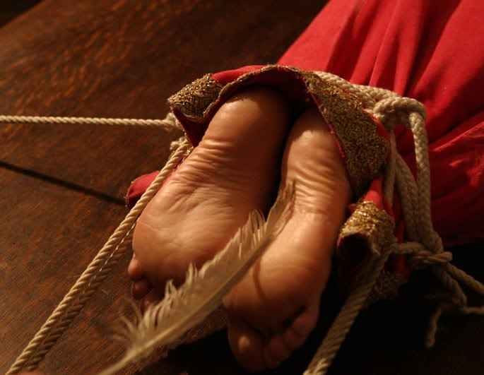 Medieval tickling feet