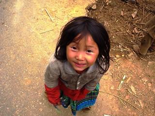 Smiling Hmong girl