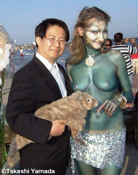 20080621-2.  Sea Rabbit (Seara), Takeshi Yamada and mermaid