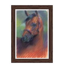 cavalo_pastel_moldura