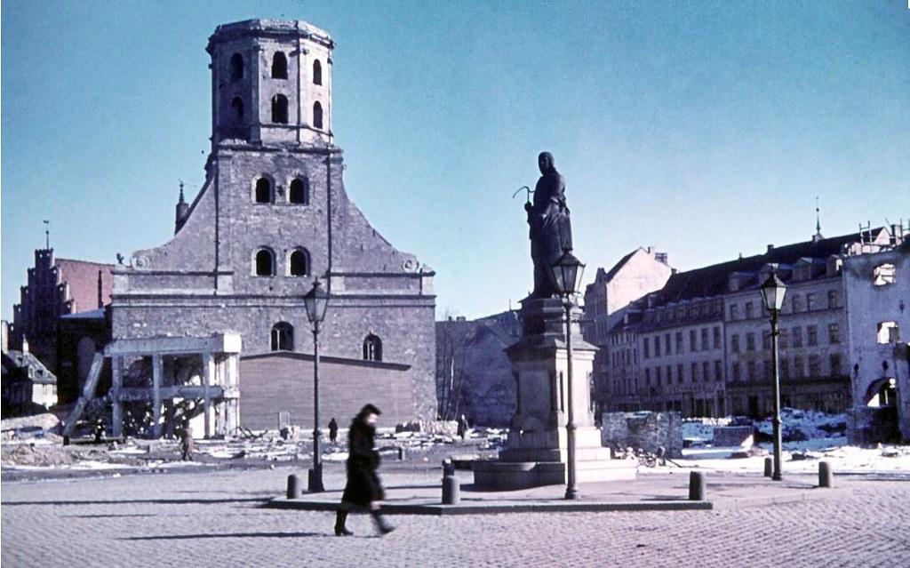 Eglise Saint Pierre de Riga après 1945.
