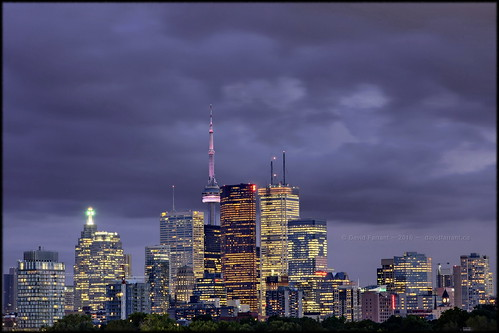 Dark clouds over Toronto