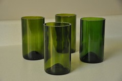 cup, drinkware, cylinder, glass, green,