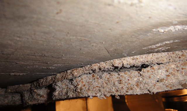 2-Layer Asbestos & Vermiculite Ceiling Material | Flickr ...