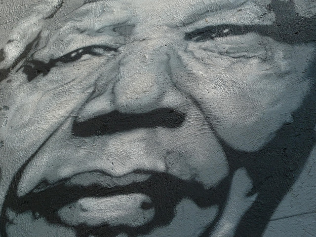 Nelson Mandela painted portrait P1040799 from Flickr via Wylio