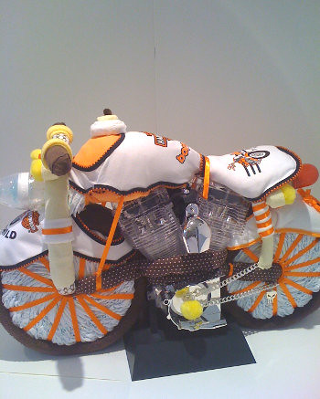 How To Make A Harley Davidson Diaper Cake