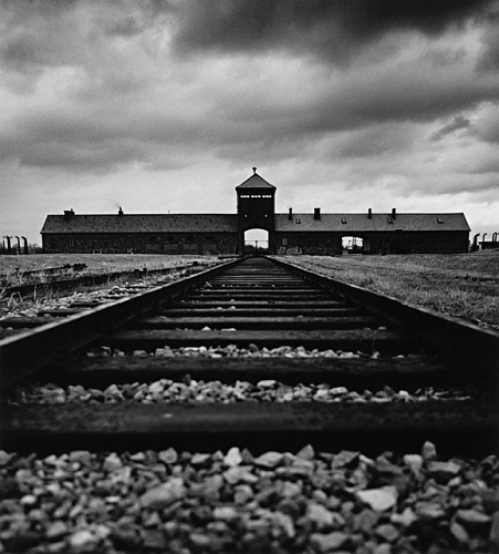 SS Guard House, (Death Gate), Birkenau, by Michael Kenna 1992