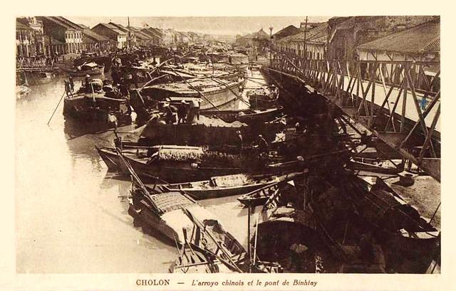 CHOLON - L'arroyo chinois et le pont de Binhtay