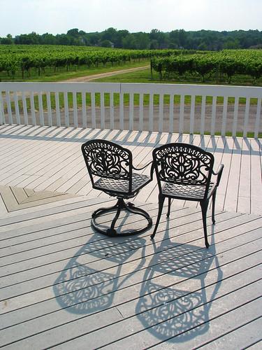 shadow summer hot vineyard view chairs diagonal veranda deck porch hazy fairportny yourock casalarga yourock1st