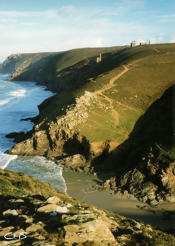 Oldie, 35mm - Chapel Porth, looking towards Wheal Coates, 1997 by Stocker Images