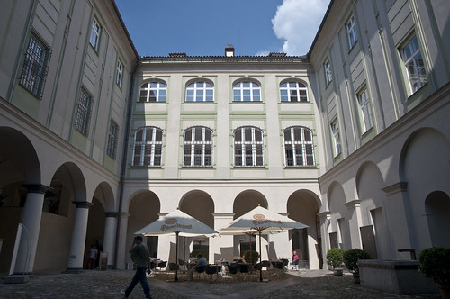 Courtyard Cafe in the Lobkowicz Palace