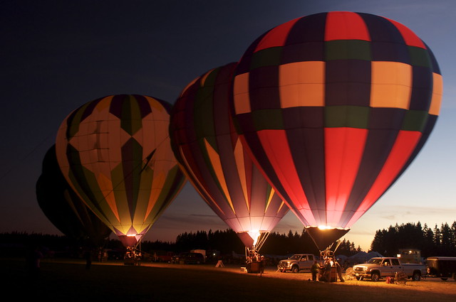 2010 Hot Air Balloon Glow At Arlington Fly - IN
