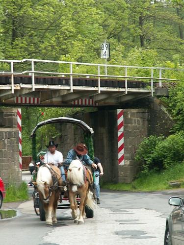 Pferdekutsche im Triebischtal bei Garsebach