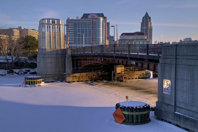 Cherry Street Bridge in Winter